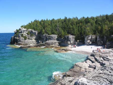 The Indian Head Cove Beach At The Grotto In The National Park